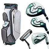 WILSON Pro Staff SGI Damen Golfset/Golf Komplettset, RH, Cartbag in Weiß, inkl. Driver, inkl. 3...