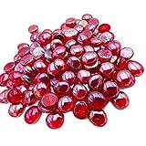 Armena Glasnuggets Rot Glassteine transparent Deko Steine 17-20mm 300g (Circa 75 Stück)