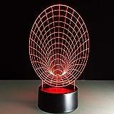 Tianyifengg 3D-LED-7 Farbfernbedienung-Nachtlicht-Abstraktes Stereo-Vision-Nachtlicht Kreatives...