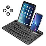 Jelly Comb Bluetooth Tastatur, Multi-Device Bluetooth-Tastatur wiederaufladbar QWERTZ Layout...