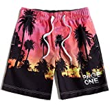 PAGE ONE Herren Strand-Shorts, schnelltrocknend, mit Netzfutter, 63,5-96,5 cm - - L (Taille :...