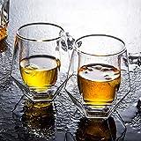 BRANDNEWS Whiskyglas, 2 STÜCKE 200 Ml Whiskyglas Doppelglas Cocktailglas, Ideal Zum Schenken Und...