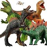 GizmoVine Dinosaurier Spielzeug ,4 Stück Jumbo Dinos 31cm weiche Dinosaurier Figuren mit...