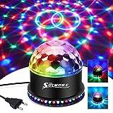 LED Discokugel,SOLMORE 51LEDs 12W Discolampe Partyleuchte RGB Lichteffekt Bühnenbeleuchtung Party...