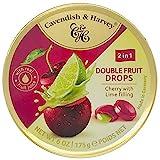 Cavendish & Harvey Double Fruit Drops Cherry with Lime Filling: Kirsch-Bonbons mit flüssiger...