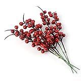 Pannow Kunstpflanze mit Tannenzapfen, Tannenzapfen, Mini-Fruchtdekoration, Weihnachtsdekoration, 20...