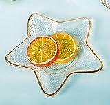 Kreativer klarer Glas-Teller, Glas-Geschirr, Bestecktablett, Terrarium-Unterteller, Teller für...
