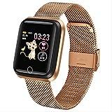 Neue Smart Watch Wasserdichtes Gehärtetes Glas Aktivität Fitness Tracker Herzfrequenzmesser...