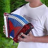 Bicaquu Musikinstrument Bass Piano, Mini Kinder Akkordeon 17 Key Anfänger Akkordeon, für Anfänger...