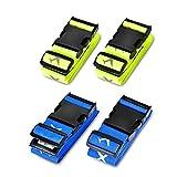 Koffergurt, Solawill 4 Stück Gepäckgurt Einstellbare Kofferband Travel Accessories Kofferband...