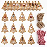 DIYASY 120 Stück Weihnachtspapieranhänger, Weihnachtsbaum, Kraftpapier, Geschenkanhänger,...
