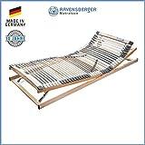 RAVENSBERGER MEDIMED 44-Leisten 7-Zonen-BUCHE-Lattenrahmen | Verstellbar | Made IN Germany - 10...