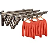 JIEZ An der Wand befestigter Akkordeon-Trockenständer Aluminiumlegierung Kleidung Einziehbare...