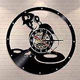 DJDLNK Dj Mixer Vintage Clock Elektronische Musik Raumdekoration Musik Disc Jockey Plattenspieler...