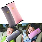 2 Stück Gurtpolster Schlafkissen Nackenstütze für Kinder, Auto Sicherheitsgurt Autositz...