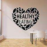 Tianpengyuanshuai Fototapete Liebe gesunde Ernährung Küche Bio-Lebensmittel Restaurant Dekoration...