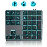 Jelly Comb Kabellose Nummerische Bluetooth Tastatur mit Hinterbeleuchtung, Wiederaufladbarer...