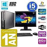 HP PC Z220 SFF Bildschirm 19 Zoll Core i5-3470 RAM 8 GB SSD 960GB DVD-Brenner WiFi W7