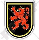 Belgische 10. Flgel-Emblem-Badge, belgische Luftkomponente, Luftwaffe, 90 mm, Vinyl-Aufkleber