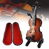 CODIRATO Holz Violine Violine Spielzeug Miniatur Violine Mini Violine Modell mit Ständer, Bogen,...