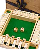 Jaques of London Deluxe Shut The Box Brettspiele - 4 Spieler Shut The Box-Spiel Perfekte...