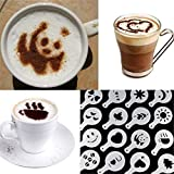 Cappuccino Kaffee Schablonen Schablone Deko Latte Kakaostreuer Dekostreuer Schaum Latte Art Barista...
