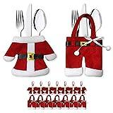 Bestecktasche Besteckbeutel Besteckhalter Serviettentasche Weihnachten 8er Set