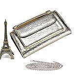 Spinning Clutch aus Leder fr Damen, klein, Krokodil-Muster, aus echtem Leder, (Elefant Gold),...