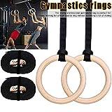 FOOING Holz Gym Ringe Gymnastikringe Trainingsringe, Olympische Gymnastik Holzturnringe Turnringe...