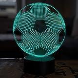 LED Deko Lampe Fuball - Elbeffekt - Fuball Kinder Deko - Fuball Lampe Kinderzimmer Geschenk Fussball