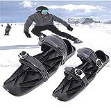 riou Mini Ski Skates für Snow Skiboard Snowblades, Erwachsene Skier Einstellbar Skifahren Schlitten...