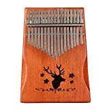 Professionelle Kalimba Daumenklavier 17 Schlüssel Thumb Piano,mit Tasche Stimmhammer Lehrbuch...