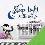 Wandtattoo / Wandaufkleber, Motiv 'Sleep tight Little One', Limettengrün
