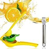 IHUIXINHE Zitronenpresse & Zitronenreibe, Saftpresse Limette Zitrusfrucht Handpresse Entsafter...