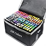 Colourful Markers with 168 Graffiti Pens Permanent Marker Kunstmarker professioneller Kunststift...