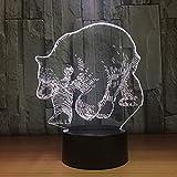 Eisbär 3D LED Lampe V USB Tischlampe Nachtlichter 3D 7 Farben Wechsellicht Lampe als...