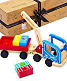 Jaques of London Holz Spielzeug magnetischer kran – Magnetspielzeug höchster Qualität ,...