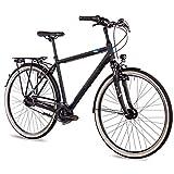 Airtracks Herren City Fahrrad 28 Zoll Cityrad 52cm CI.2820 Shimano Nexus 7 Gang Schwarz Matt -...