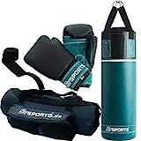ScSPORTS Boxsack-Set, für Kinder und Jugendliche, mit Boxhandschuhen, Boxbandagen und Tasche, 5,5...