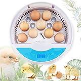 ALTINOVO Brutmaschine Vollautomatisch Hühner Eier Brutgerät, 9 Eier Mit Effizienter LED...