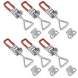Spannverschluss 6 Stück Schnellspanner Clamp Kniehebelspanner Bordwandverschluss Klappverschluss...
