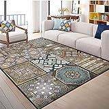 LAMEDER Home Wohnzimmer Teppich,Zeitgenössischer Teppich Moderne Mode Wohnkultur weichen Wohnzimmer...