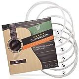 Gitarrensaiten von Villkin - Premium Nylon-Saiten für Klassische-, Konzert-& Akustik-Gitarre - 6...