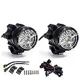 Paar Motorrad Scheinwerfer Frontscheinwerfer Zusätzliches Nebelscheinwerfer Licht Zusätzlich für...