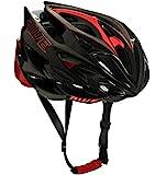AWE AWESpeed In-Mould Helm Erwachsene Männer Straßen-Radsport 58-61cm Schwarz-rot-Carbon