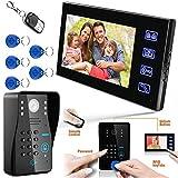 Bildtelefon, Video-Gegensprechanlage Visuelle Türklingel mit Sicherheits-7-Zoll-Innenmonitor für...