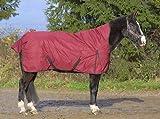 jw reitsport Highneck Winterdecke 300gr weinrot 135 cm