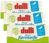Dalli Pflege Kernseife 3 x 375g Unparfümiert Pflanzlich (3er-Pack)