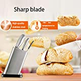 QINYUP 7-teiliges Messer-Set, inklusive 6 Messer, 1 Satz Schere, 1 Messerhalter und Schneidebrett +...