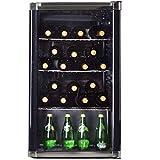 Syntrox Germany Mini-Bar, Getränkekühlschrank, Showcase, Kühlschrank mit Glastür, geräuscharm,...